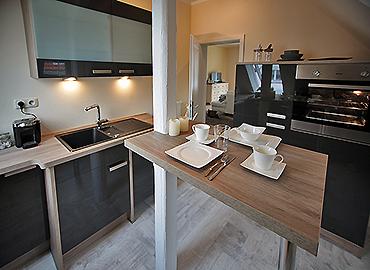 Die Küche im Atelier