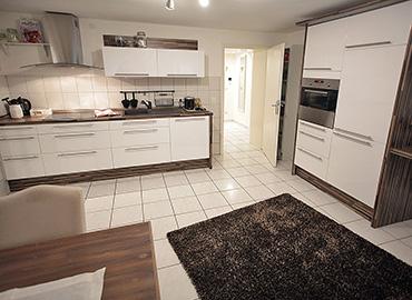 Die Küche im Souterrain
