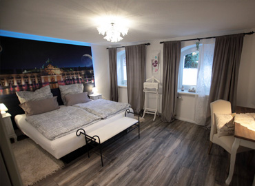 Das Schlafzimmer im Soutterain